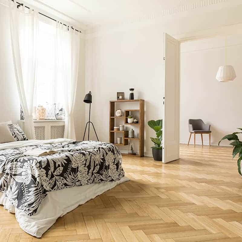 herringbone timber flooring