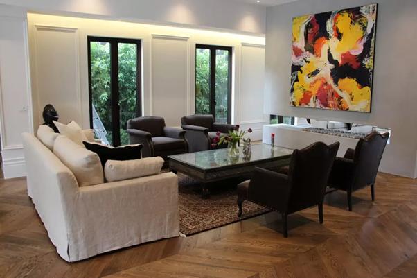 chevron flooring example